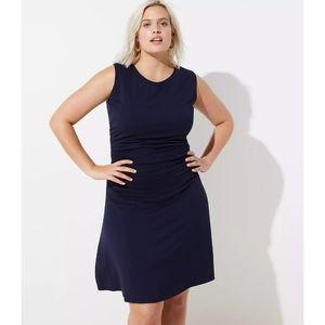 NWT LOFT Plus Side Shirred Wrap Dress